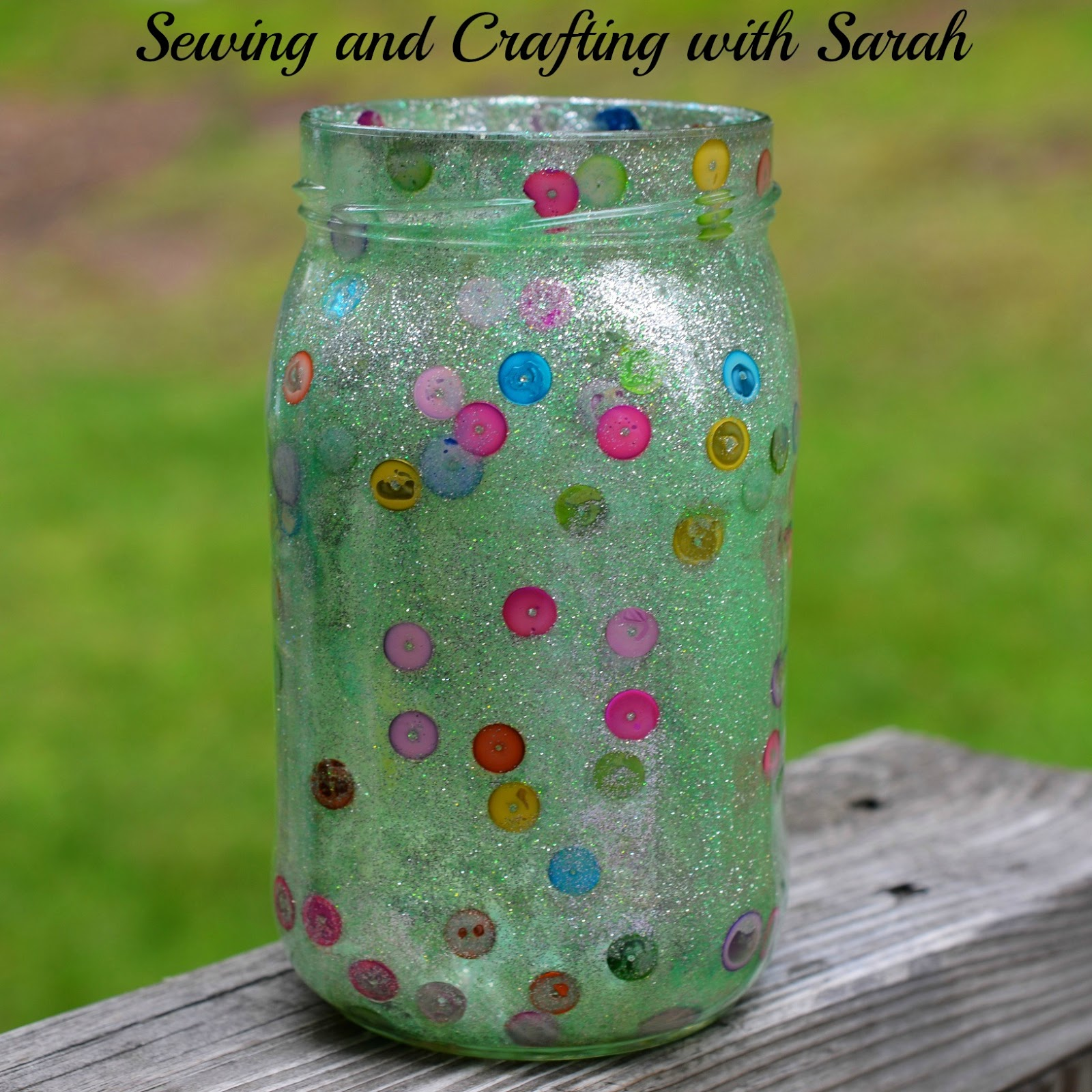 Sewing and crafting with sarah polka dot mason jar for Projects to do with mason jars