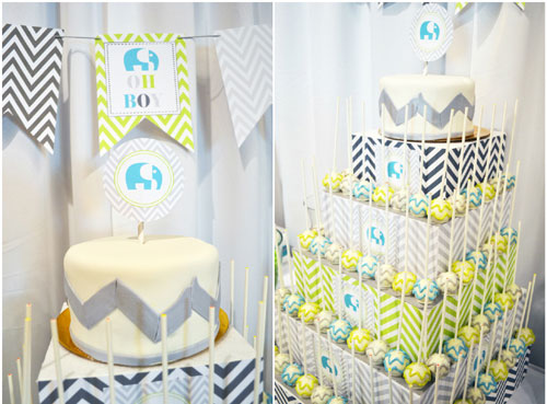 The Baby Shower Fiestas: Decoración de Baby Shower en Azul Marino y ...