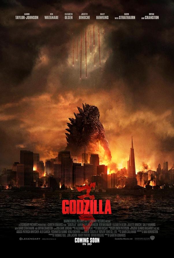 Póster Godzilla, de Gareth Edwards
