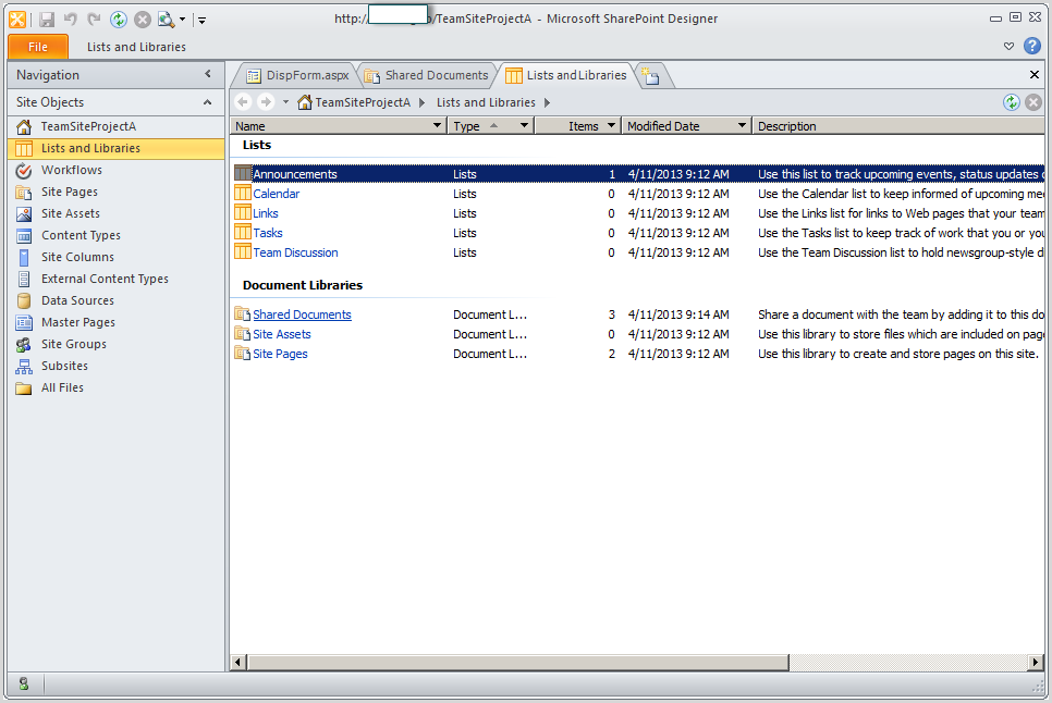 Sharepoint 2010 display list or library on another site for Document library name sharepoint
