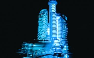 REKA bentuk Hotel Angkasa di Pulau Barcelona mengikut gambaran artis.