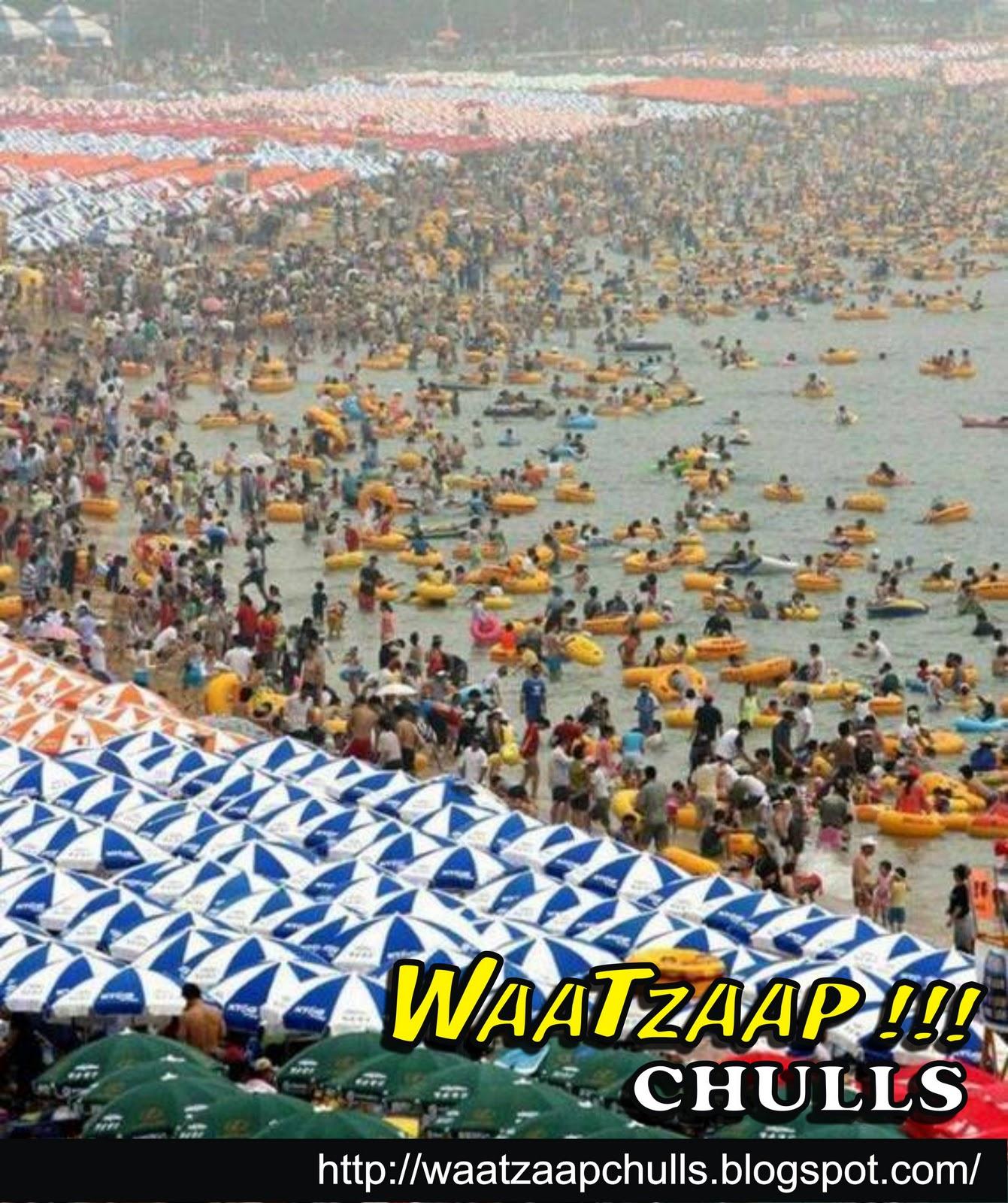 Фото много народу на пляже в