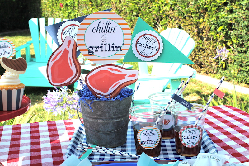 LAURAS little PARTYFathers Day BBQ Ideas + Free printables