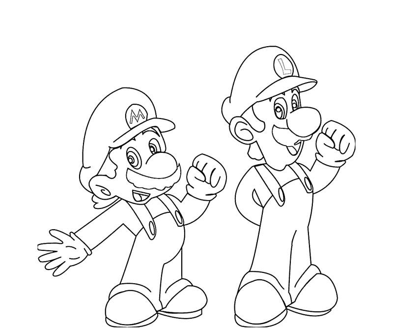 #1 Super Mario Coloring Page