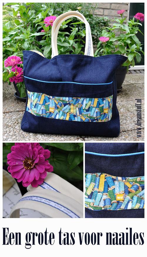 Grote Tas Geblokt : Dreamstuff grote tas voor naailes big bag for sewing class