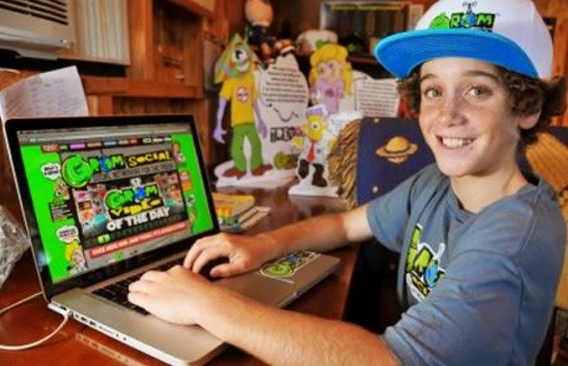 Zach Marks (12 anos) criou uma rede social para crianças