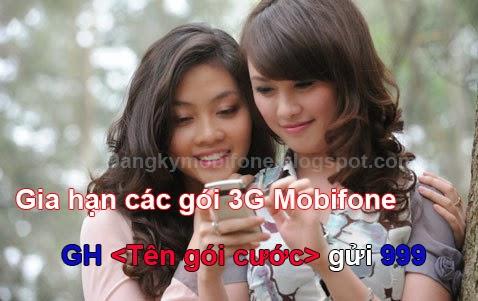 Hướng dẫn gia hạn các gói 3G Mobifone
