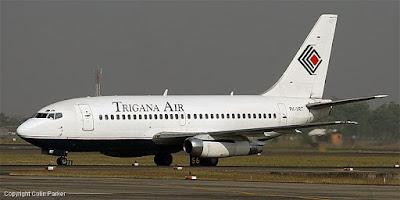 Pesawat Indonesia Terhempas