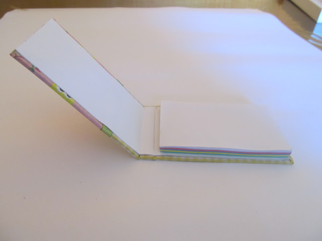 bloquinho de anotação, encadernação com tecido, scrapbook