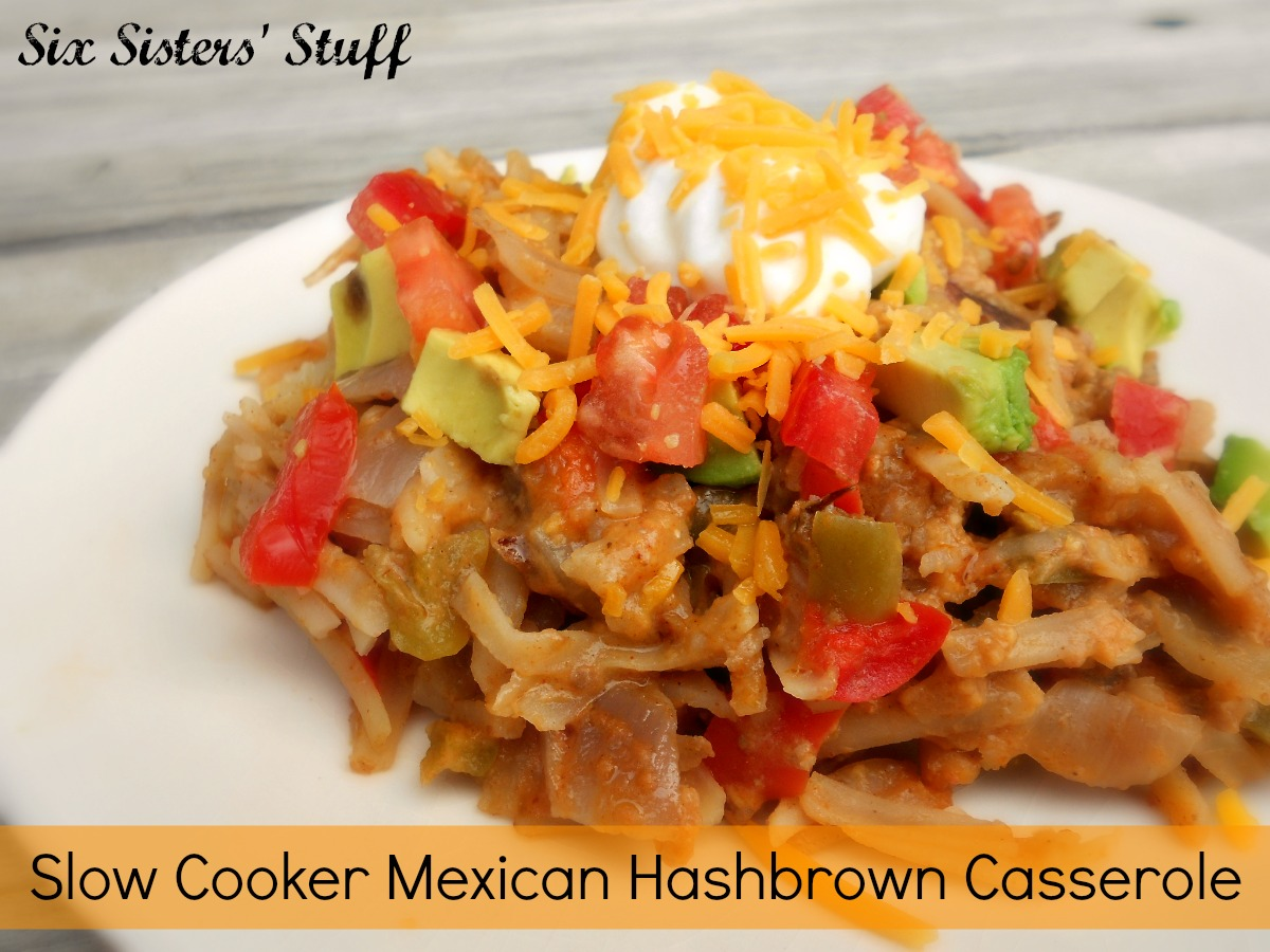 Best Slow Cooker Book Slow Cooker Mexican Hashbrown Casserole | Six Sisters' Stuff