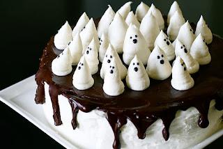 Tortas de Halloween con Fantasmas
