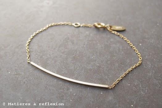 Bracelet vermeil épuré Stalactite bijoux