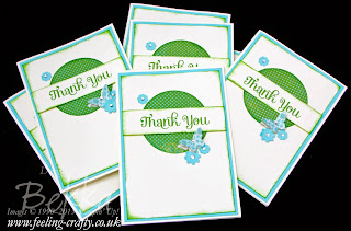 World Card Making Day 2013 Thank You Cards by UK based Stampin' Up! Demonstrator Bekka Prideaux
