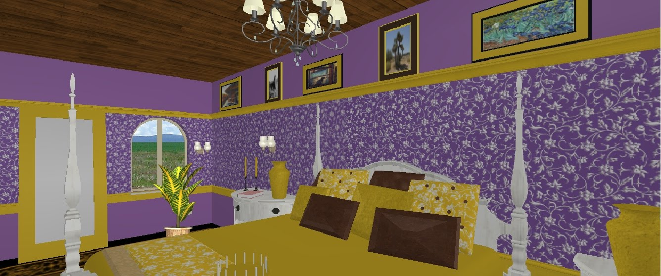 cherishing spaces design of the week purple and yellow