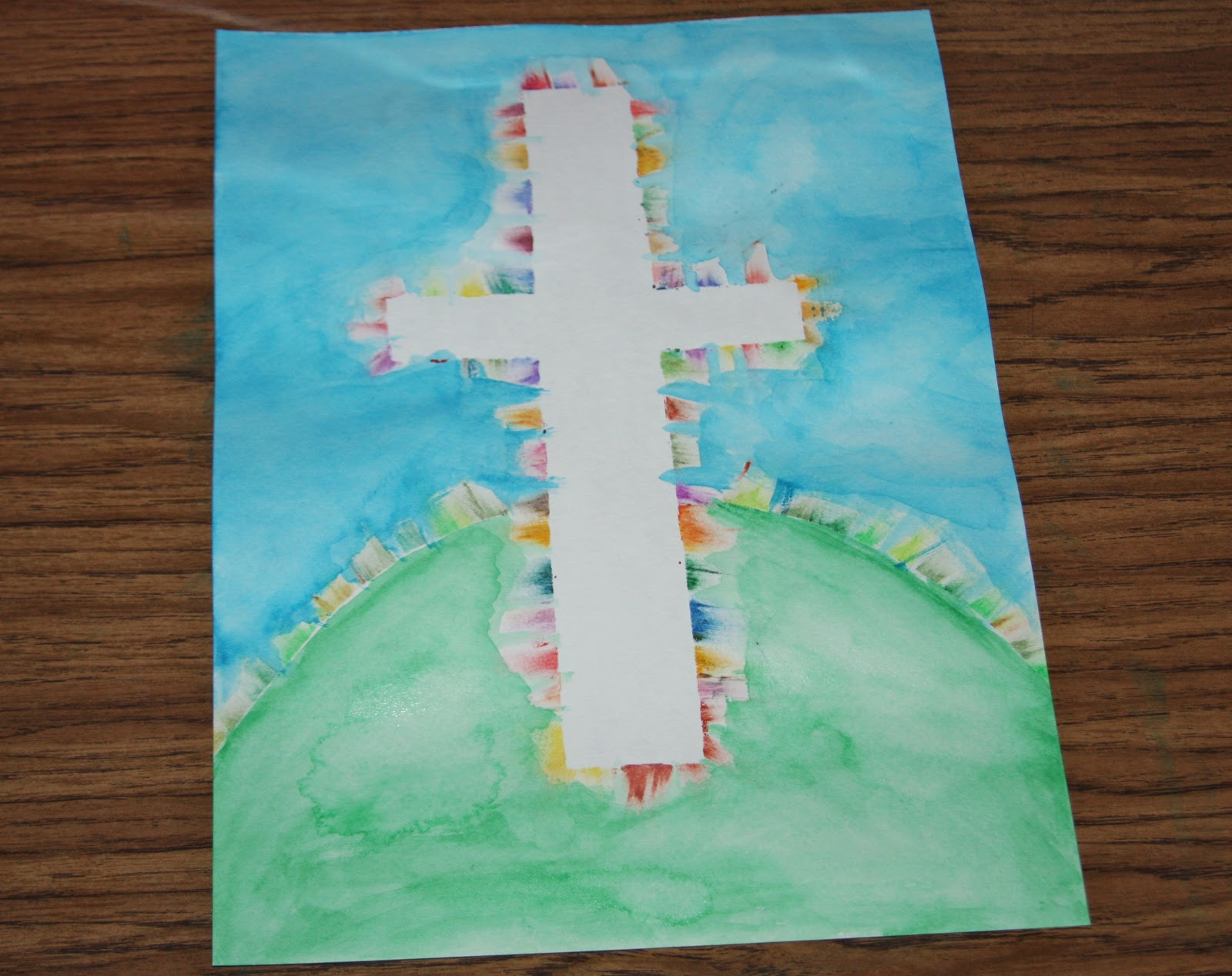 A Learning Journey: C is for Colorful Cross Easter Art