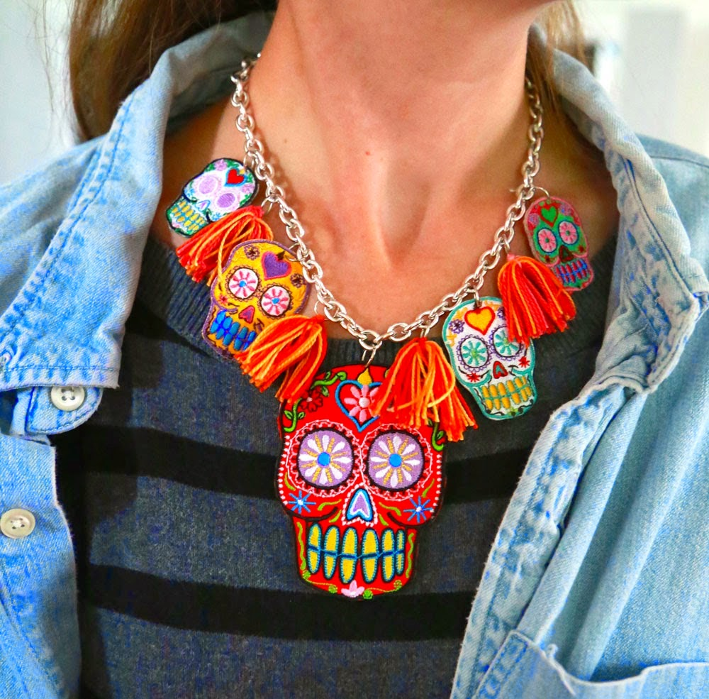 http://www.auntpeaches.com/2014/10/sugar-skull-necklace.html