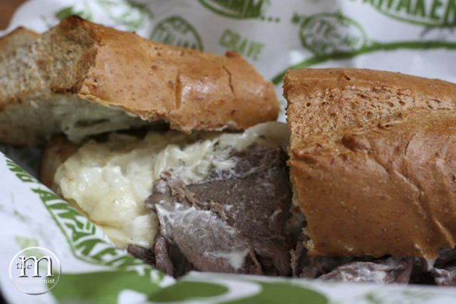 Quiznos double cheese cheesesteak