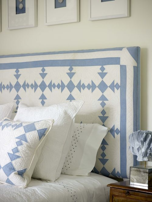 Aesthetic oiseau quilt as headboard for Quilted headboards