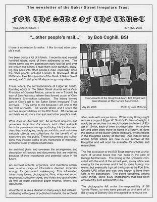 BSI Trust Spring 2006 Newsletter