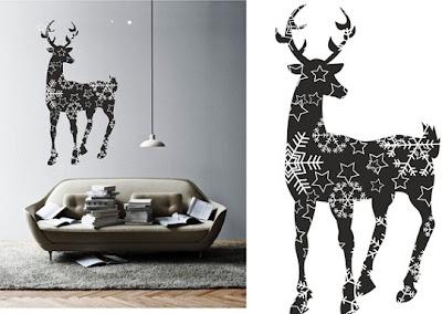 geyik+tasarimli+duvar+sticker+modeli Evinize Duvar Sticker Modelleriyle Renk Katın