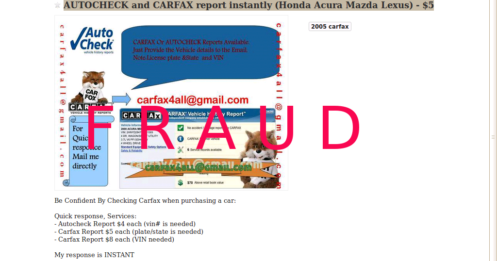 UPDATE-2 - CRAIGSLIST SCAM ADS | Vehicle Scams - Google Wallet ...