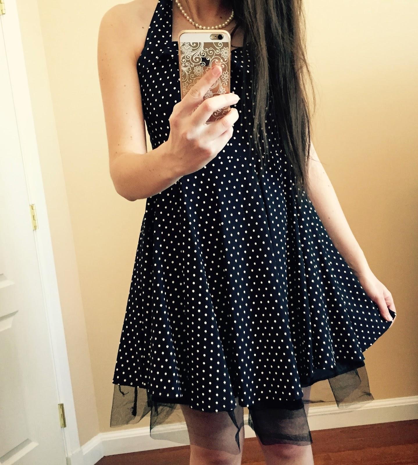 60's inspired dress, ravi famous dress, polka dot sweetheart dress,