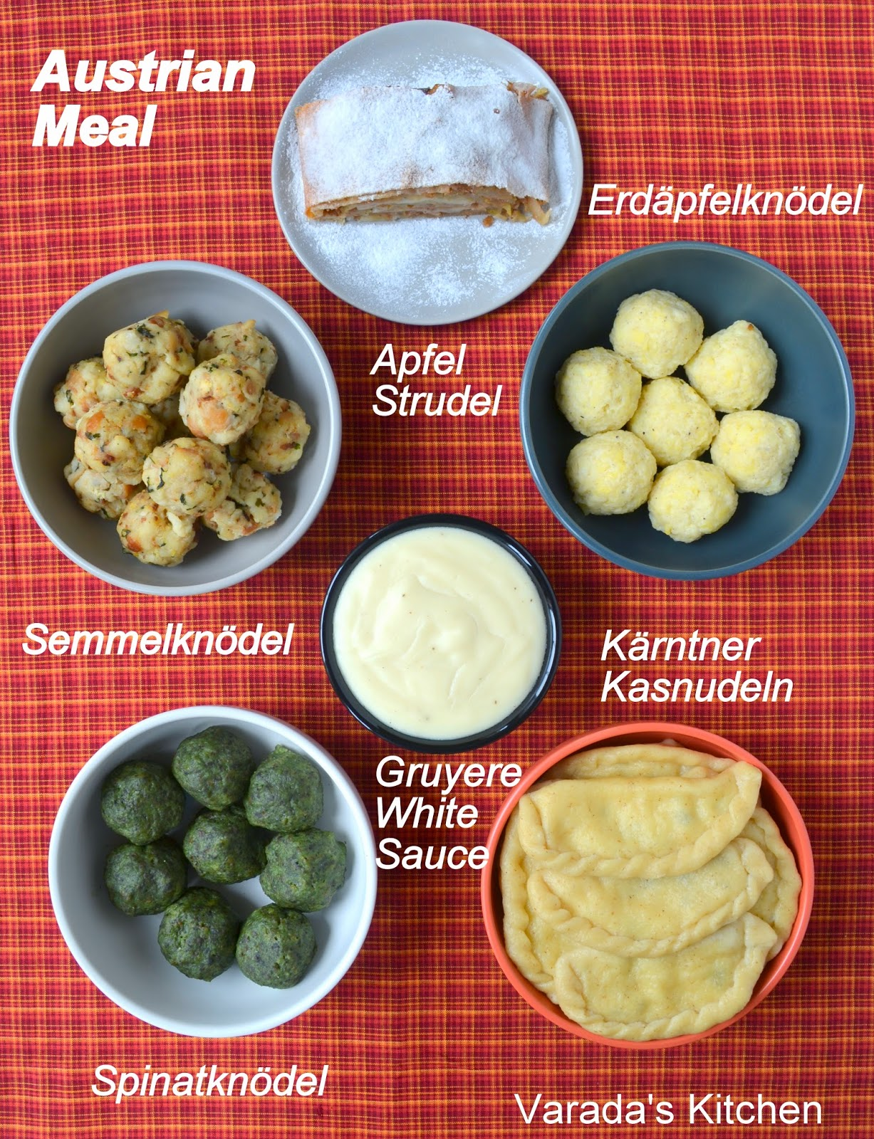 Varadas kitchen austrian meal i took inspiration from the song and prepared a meal of noodles and a few other dumplings with apple strudel i am presenting a vegetarian austrian forumfinder Image collections