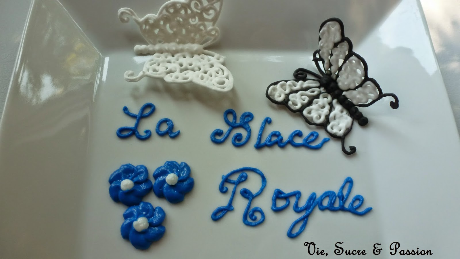 Royale icing technique