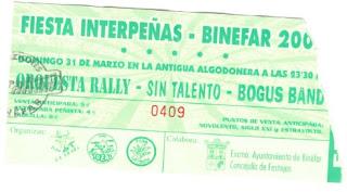 entrada concierto binefar Sin Talento