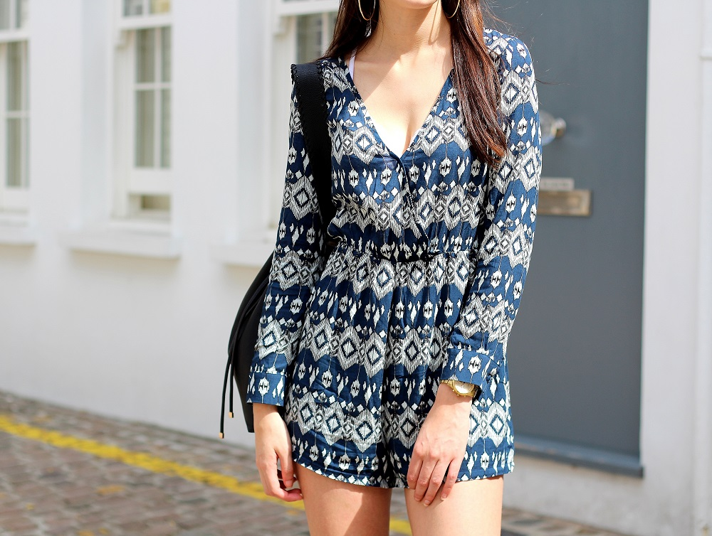 peexo fashion blogger wearing madam rage playsuit