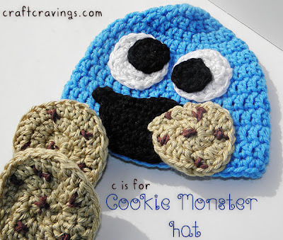 Cookie Monster Hat from Craft Cravings