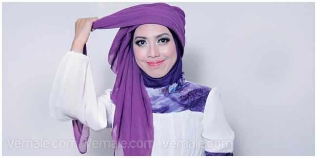 Cara Memakai Jilbab Turban Kepang