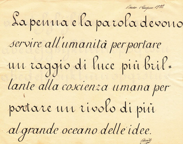 Italian Handwriting