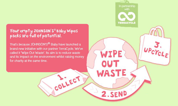 Johnson's Baby Wipe Out Waste Launch