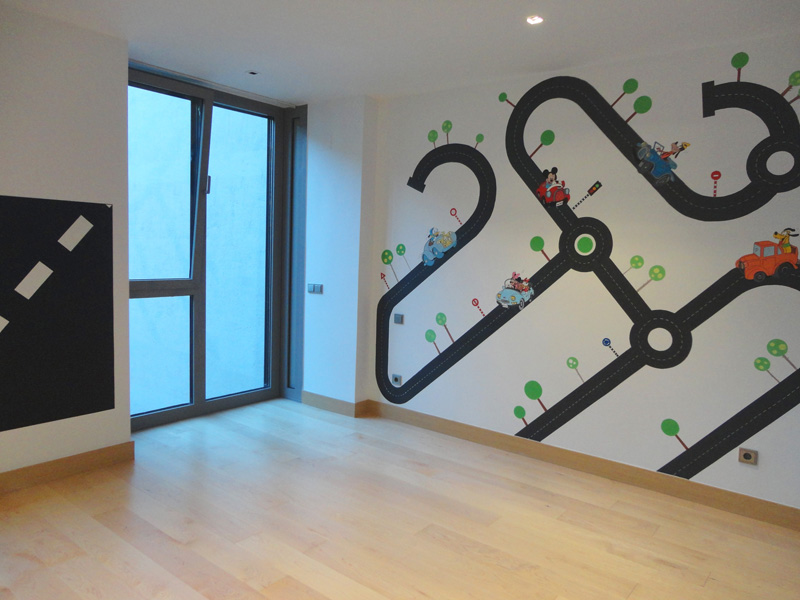 decopared mural disney coches para dormitorio infantil