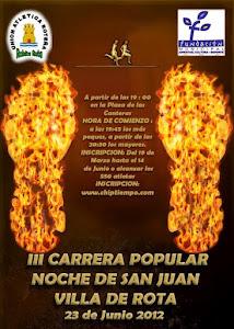 """III CARRERA POPULAR """" NOCHE DE SAN JUAN """" VILLA DE ROTA"""