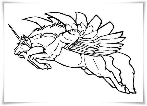 Barbie Pegasus gratis-Malvorlagen  - Einhorn Pegasus Ausmalbilder