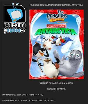 Caratula Pelicula Pinguinos De Madagascar Operacion Antartida Real