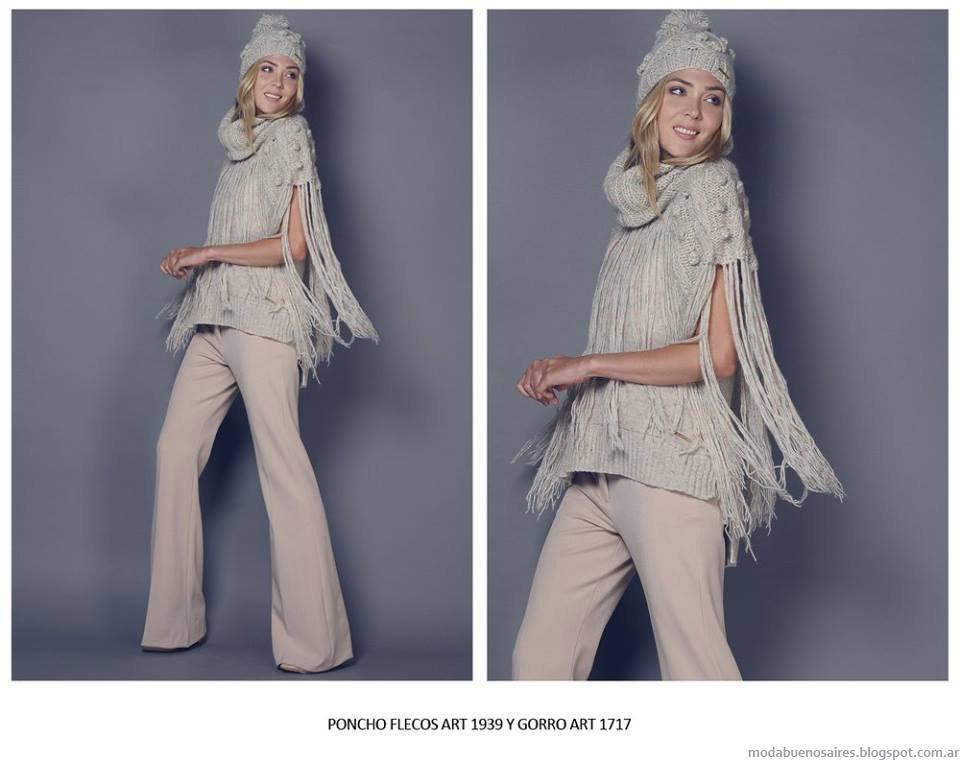 Sweaters de moda tejidos invierno 2015 Agostina Bianchi,