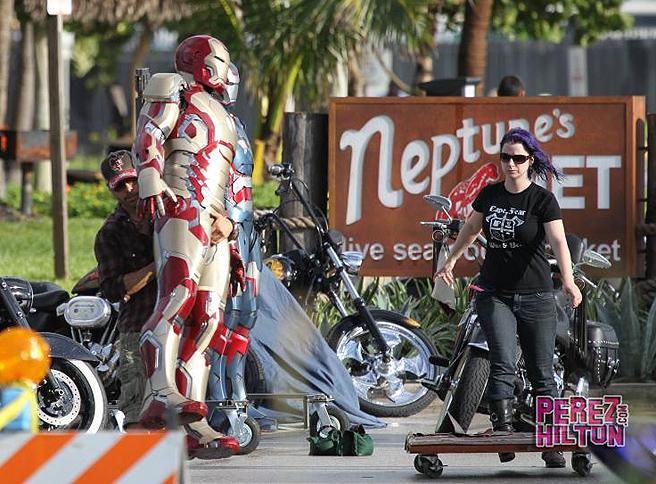 Iron Man 3: fotos de Iron Patriot y la Mark XLVII