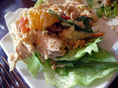 Thai Chicken Lettuce Wraps at Barlow's Restaurant in Boston, MA - Photo by Taste As You Go