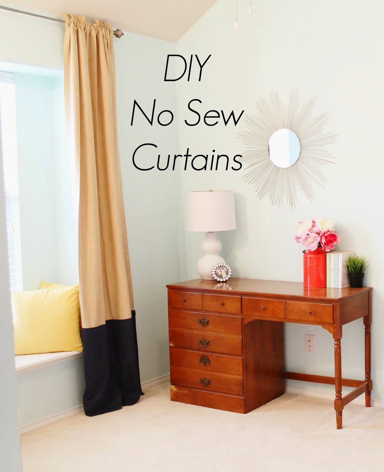 Tucker Up: DIY No Sew Curtains