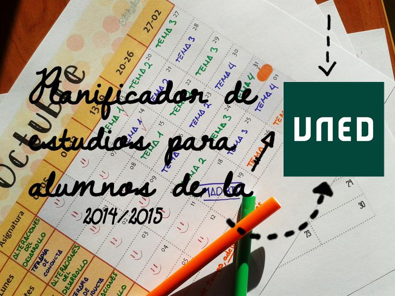 Planificador Organizador Estudiar Mensual Semanal UNED Freebies Descargar Imprimible