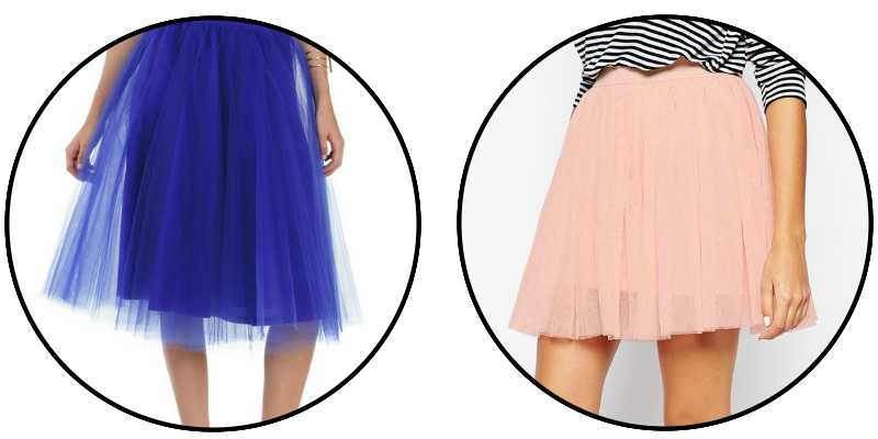 ROYAL BLUE PEACH TULLE SKIRT