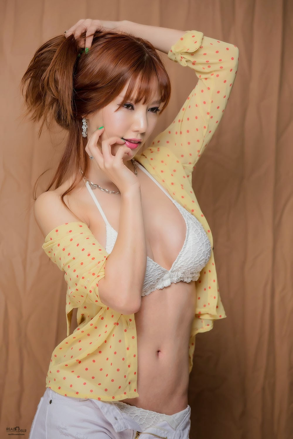4 Han Min Young - Red, Yellow, & Blue - very cute asian girl-girlcute4u.blogspot.com