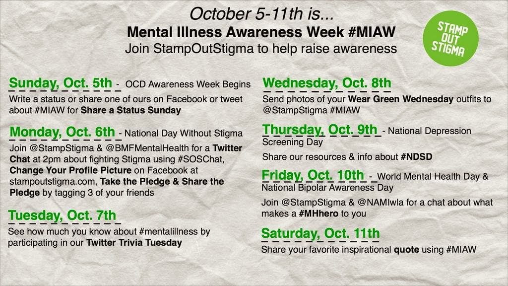 Over Social Media Recently I Am Reading Tweetsstatuses And Tumblr Posts About Mental Illness Awareness Week As It Is World Health Day Thought