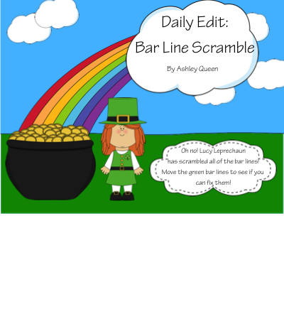http://www.teacherspayteachers.com/Product/Daily-Edit-Bar-Line-Scramble-St-Patricks-Day-Theme-1120684