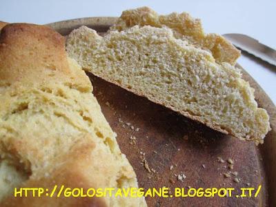 farina di mais, farina semi integrale, forno, latte di soia, latte vegetale, licoli, lievitati, lievito, pane, Pane Pizza e..., ricette vegan,