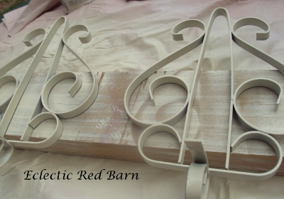 Eclectic Red Barn: Painted Wrought Iron Sconces