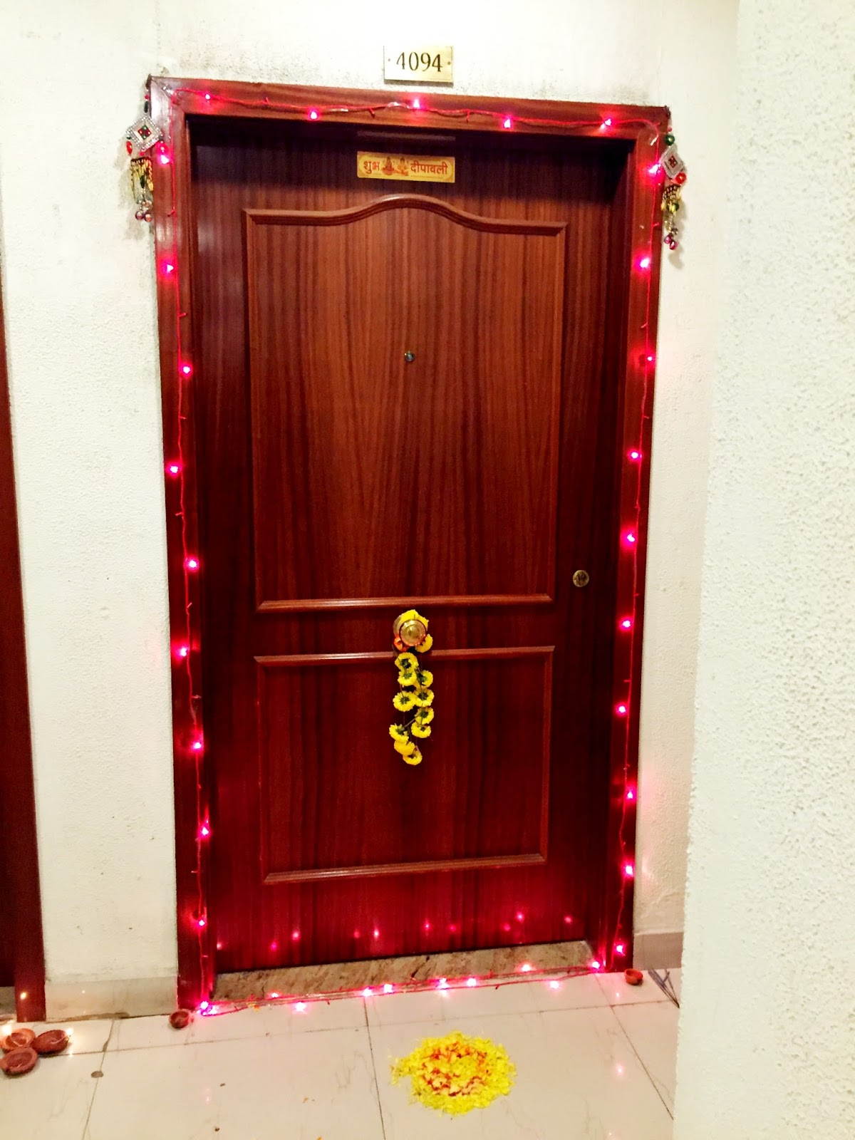 Main door decoration for diwali house